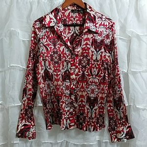 MDS CALIFORNIA Long Sleeve Button Down Blouse